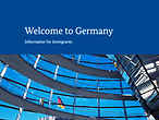 Brochure cover: Welcome to Germany – Information for Immigrants