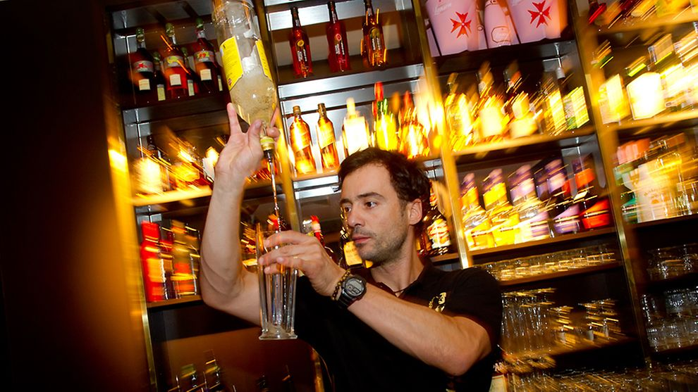 Barkeeper at Angie's Nightclub in Hamburg, Germany