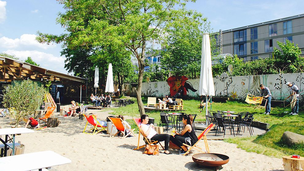 Central Park Beach Club in Hamburg, Germany