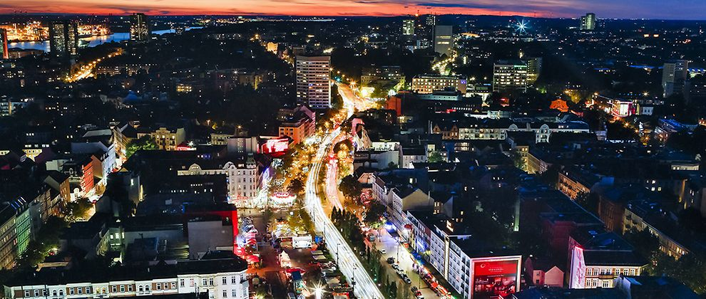 Reeperbahn in the heart of St. Pauli district