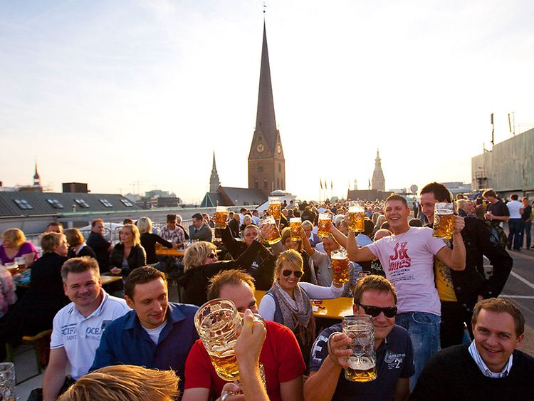 Oktoberfest in Hamburg on the roof of Karstadt