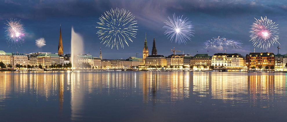 New Year's Eve in Hamburg, Germany