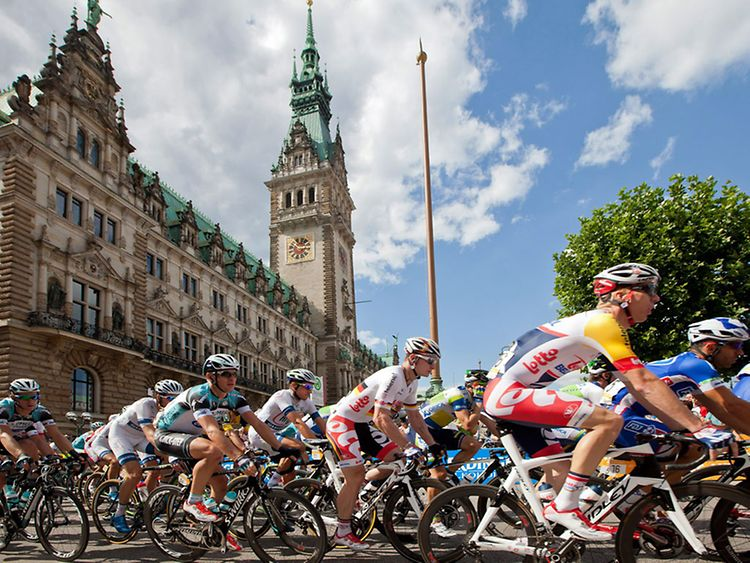 Cyclassics Bicycle Races in Hamburg, Germany