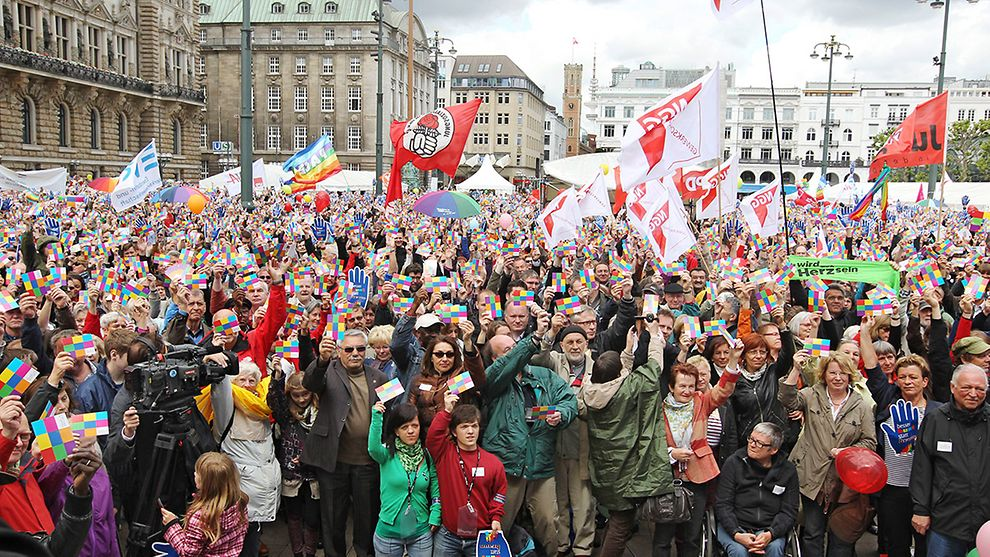 Hamburg against right-wing extremism