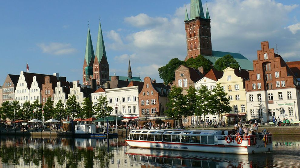 Visit Luebeck's old historic buildings like the impressive cathedral