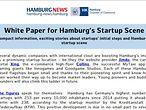 Screenshot White Paper for Hamburg's Startup Scene
