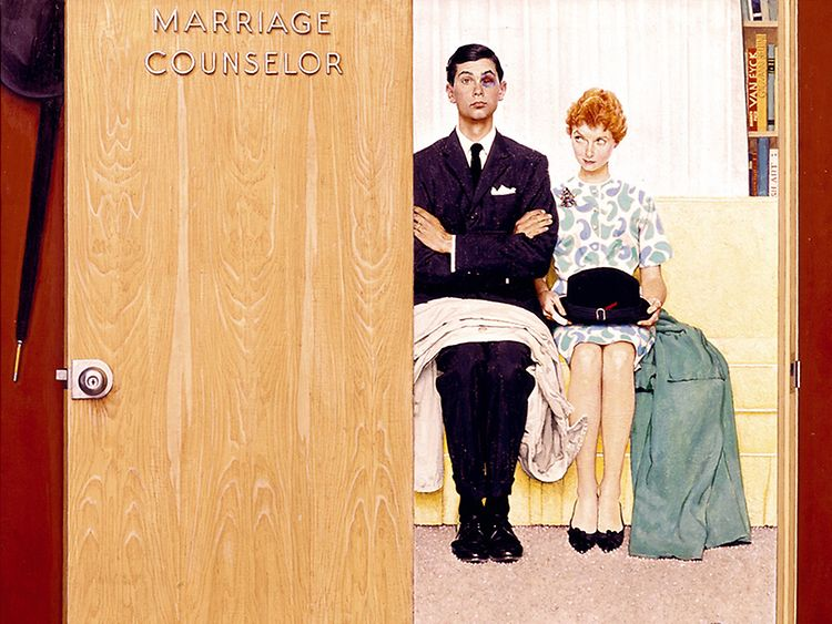 Norman Rockwell: Marriage Counselor, 1963, Norman Rockwell Art Collection Trust