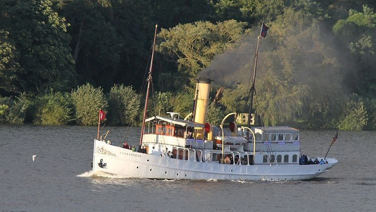 The museum ship is fully intact and can be rented for charters and events