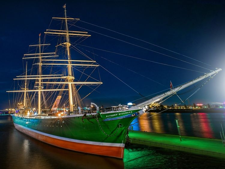 The Elbe river is known for its abundance of impressive museum ships
