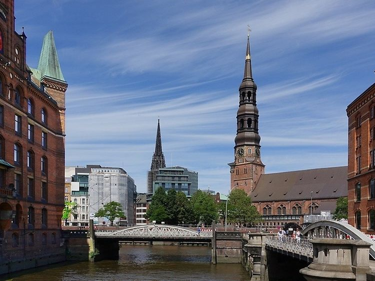 One of the five major churches in Hamburg