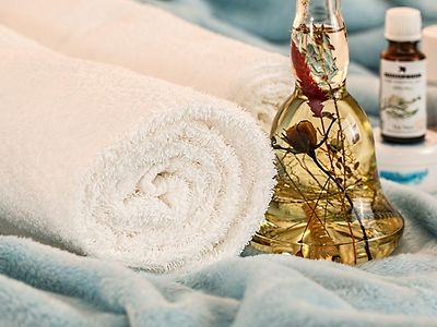Towels and lotions for your well-being